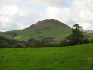 Looking over to Caer Caradoc from our walk