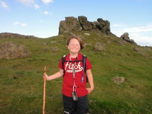At Three Fingers rocks at the south end of Caer Caradoc