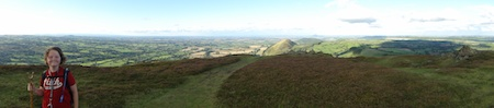 The panorama from the top of Caer Caradoc