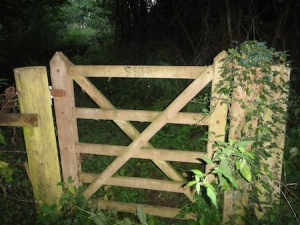A very quiet gate ;), right next to the last cache of the day