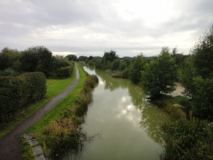View from GZ at one of the Newport caches. That's the old canal that is now a designated SSSI below.