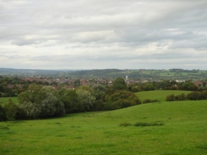 View over the town of Uttoxeter from GZ on one of the caches