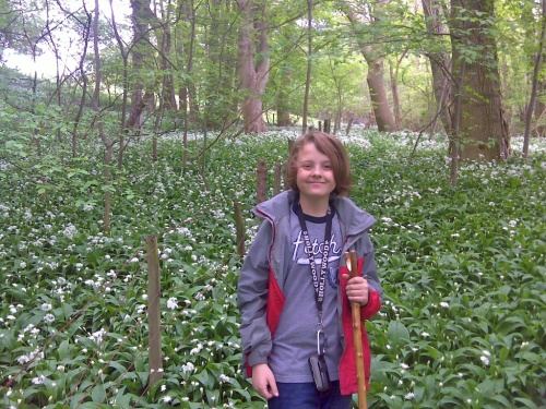 Surrounded by a carpet of lovely wild garlic